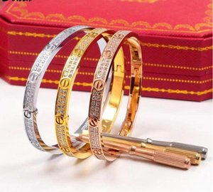electroplating exaggerated luxury micro inlay two rows of zircon European and American fashion titanium steel