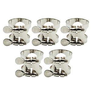 5 Pièces Saxophone Pince à ligatures clip pour les joueurs d'amant Sax, Argent