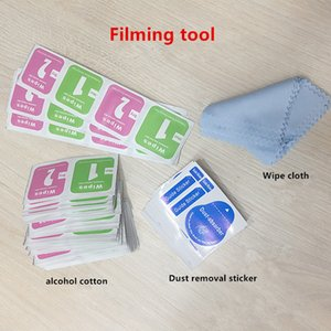 Alcohol bag for mobile phone film, two-piece alcohol wipe for screen cleaning cloth, wet and dry