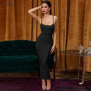 Estidos Bandage 2020 New Arrivals Summer Party Night Women Dress Bandage Sexy Ginger Maxi Long Bandage Dress Bodycon