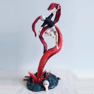 43cm Combat ver. Kaneki Ken Action Figure Anime Tokyo Ghoul Figurine Good PVC Model Toy 2 Heads Top Grade Gift Collectibles C165 T200713