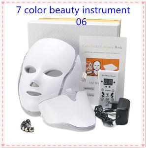 110V 7 Цвета терапии красоты Фотон LED маска для лица Light Уход за кожей Омоложение морщин удаления прыщей лица шеи Beauty Spa Инструмент
