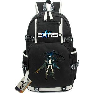 Shooter zaino nero roccia zainetto BRS portatile sacchetto di scuola zaino Sport nuova ondata zainetto fumetto packsack giorno all'aperto pacchetto