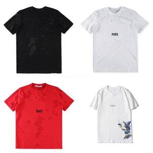 Unisex T Shirts Hip Hop Tee nuevo alto desistir Paisley Bandana letra de la impresión gráfica de la cremallera lateral extendido camiseta # QA283