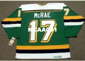 Mens # 17 FESLEĞEN McRae Minnesota Kuzey Yıldız CCM Vintage Ana Hokeyi Jersey veya Jersey Retro özel herhangi bir ad veya numara