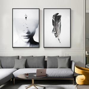 Nu Art Beauté Figure Peinture à l'huile de mode moderne Portrait sexy Affiches mur de toile Photos de Nordic Chambre Décoration
