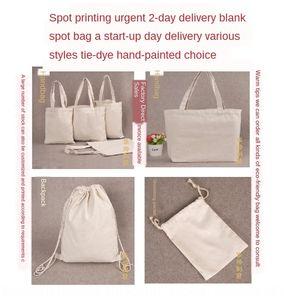 fai da te di cotone canvas bag borsa di tela vuota Superior piu` dipinto a mano