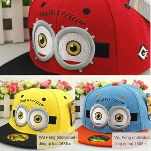 New boys and girls Flat cap baseball cap baseball minions embroidered double-eye hip hop flat outdoor hat student hat