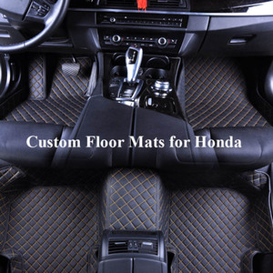 Coches tapetes para Honda Crosstour Acuerdo Cívico CRV 2005 CRZ Piloto 2016 2020 2018 Honda Fit Jazz 2019 Honda Accord Tapetes