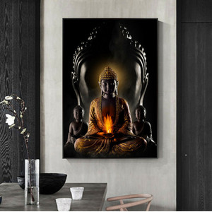 God Buddha Canvas Art Paintings Wall Decor Handpainted &HD Print Oil Painting On Canvas Wall Art Canvas Pictures 200727