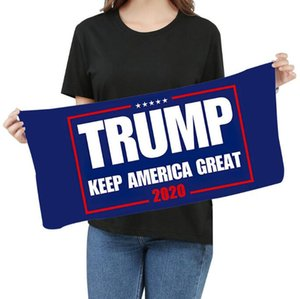 Mikrofaser Trump Gesicht Handtuch 35 * 75cm US-amerikanischen Wahlen Quick Dry Absorbent Sports Handtuch Make America Great Again Handtücher LJJO8211