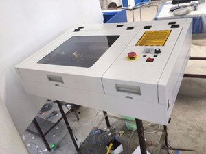 50W CO2 Laser-Graviermaschine 4040 Laserschneidmaschine 40 * 40cm Arbeits Formateinzeichnung diycnc Gravur ONjD #