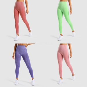 Women Seamless Yoga Set Fitness Sports Suits GYM Cloth Yoga Long Sleeve Shirts High Waist Running Leggings Workout Pants 2020#219