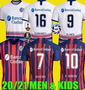 2020 2021 Сан-Лоренцо-де-ALMAG трикотажные изделия футбола 20 21 Camisas де Futebol Coloccini Сенези BELLUSCH BLANDI Cerutti футбол рубашка мужчины дети комплект