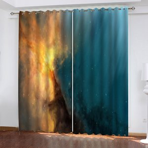 Window Blackout Color Star Universe 3D Curtains set For Bed room Living room Office Hotel Home Wall Decorative