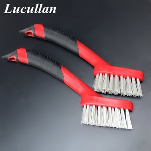Cloths & Brushes Lucullan Ergonomically Non Slip Rubber Grip Auto Detail Brushes Trim,Leather,Groove Gap,Interior Cleaning Tools