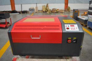 Envío libre de CO2 50W 4040 CNC Máquina de grabado láser láser máquina del cortador grabador de bricolaje Marcado Talla CC93 #