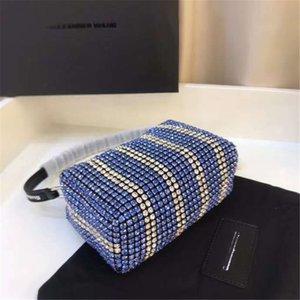 P Casa Nuevo 2020 de diseño de lujo bolsos de mano del Rhinestone de la cadena bolsas salvaje estilo occidental Mensajero con original Boxfemale Ins viento de otoño # 536