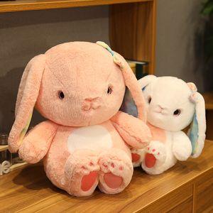 25 30 40CM Cute rabbit plush toys pink white Bunny Stuffed Plush Animal doll baby accompany sleep toy high quality gift For kids