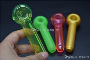 Colorful Glass Spoon pipe tobacco Smoking Pipes Glass Oil burner pipe Mini water pipes bongs hand pipe