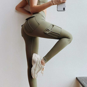 Wmuncc femmes taille haute Workout Gym Legging Scrunch Buyoga Pantalons Sport Leggings Fitness Flex Booty Sweatpants avec poches