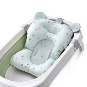 QWZ neue bewegliche Baby-Anti-Rutsch-Badewanne NewBorn Air Cushion Bett Stuhl Regal Babyparty Nette Tierkarikatur Baby-Bad-Pad CX200718