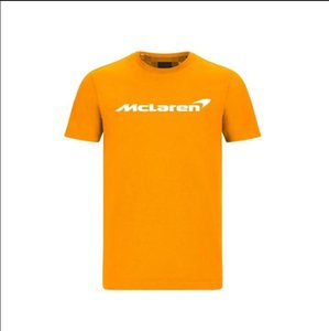 F1 Formula One racing suit short-sleeved T-shirt team suit 2020 McLaren MCL35 casual round neck polyester quick-drying same custom