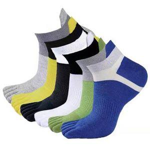 Outdoor Men's Socks Breathable Cotton Toe Socks Sports Jogging Cycling Running 5 Finger Toe Slipper Sock
