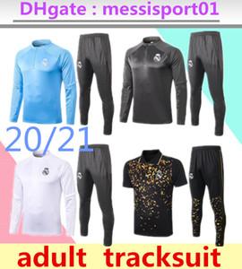 2020 2021 Suit Real Madrid Football Training terno Real Madrid Mens 2020/21 Real Madrid curta kit pólo e mangas compridas Treino Kit