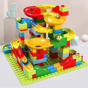 Childrens Slide Building Blocks Plastic Assembled Small Particles 3-6 Years Old Boys and Girls Educational Early Education Toys Compatible w