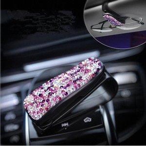 Shinning Auto Car Acessórios teto solar Visor Sunglasses Clipe portátil Titular Auto Interior Óculos Supplies Cartão Bill braçadeira Car G8MB #