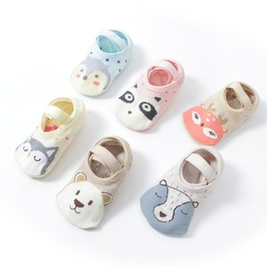 Baby Floor Socks Girls Boys Cute Cartoon Non-slip Cotton Floor Sock Animal Pattern First Walker Shoes for Toddler 1-5 years old