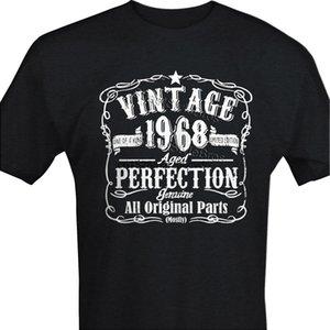 2020 Горячие продажи Урожай 1968 Mens пятидесятый день рождения T-Shirt 50 лет подарков Present папа Grandad майка Мужская мода
