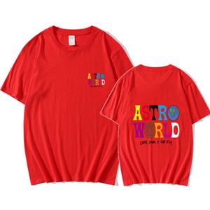 Manica corta Travis Scott Astroworld magliette per i Mens Lettera Beachwear girocollo allentato Tees Homme estivo Top
