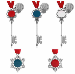 5 Styles Christmas Keychain Magic Santa Claus Key Christmas Key chain Pendant Ornament Decorations Xmas Halloween Gifts ZZA2458 50Pcs