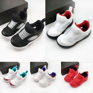 Little Flex Children Sneaker JR5 5 Fire Red PS V Easter International Fligh Basketball Shoes Children Boy Girls Infants Suit Kids trainers