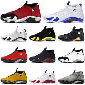 nike air jordan 14 retro 14 zapatos de baloncesto zapatos para hombre de 14 años de lujo Jumpman 14 Gimnasio Rojo retro diseñador Hyper Real grafito Universidad tamaño