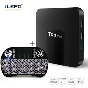 TX3 Mini Android TV Box ile Hava Fare Klavye 2G 16G İnternet 4K Media Player S905W Dört Çekirdek Set Üstü Kutu