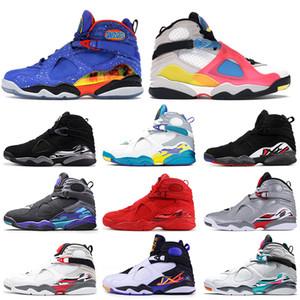 Nike Air Jordan 8 Jordan Retro 8 8s 2020 En kaliteli hava erkek eğitmenler Beyaz Çok renkli Sevgililer günü ayakkabılar Doernbecher erkek basketbol ayakkabıları jumpman