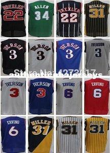 Mens 3 Allen Iverson 6 Julius Erving Jersey reggie miller Jersey Basketball Jersey XS-6XL vest Jerseys Ncaa