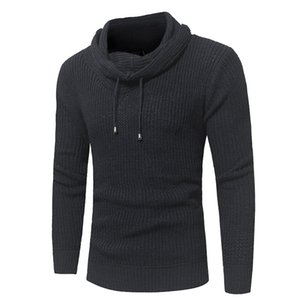 Men's Cotton Hoodie Pullover Autumn Winter Soft Warm Slim Fit Solid Long Sleeve Clothes Knitted Casual Male Sweater Pull Homme