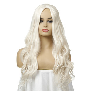Long Body Wave Wig for Women Synthetic Light Blonde Natural As Real Hair Glueless Free Part Wig Women Fashion hairstyles Wig