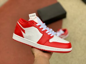 1 Low Basketball Shoes Red White 553558-611 RED GYM RED-W tennis shoes designer womens shoes high top sneakers womens designer loafers