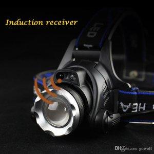 Hot IR Sensor Headlight Induction Micro USB Rechargeable Lantern CREE XM L2 XML T6 Headlamp 3800 Lumen Flashlight Head Torch 1*18650 Battery