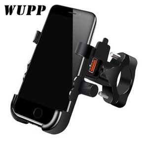 utomobiles & Motorcycles WUPP Universal QC 3.0 USB Motorcycle Charger Phone Holder Waterproof 12V MotorBike Mobile Phone Mount Power Adap...