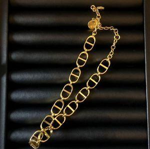 Designer Brand Necklace Fashion round Letter Pendant Necklaces 18K Titanium Steel Plated Women Necklace Wholesale Price