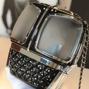 2020 modo di alta qualità Borse catena di Crossbody Messenger Bag strass in resina intarsio diamante delle donne sacchetto del pranzo della grata di diamante di trasporto
