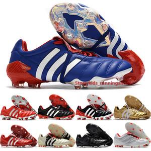 Хищники 20+ мутаторного Хищники Mania Tormentor Футбол Бутсы мужского Firm Ground Boots Активного Blue Metallic Red футбол обувь Размер 39-45