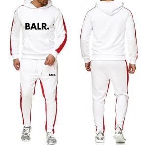 Designer nuove tute cuciture Sweat Suitmen set attivo con cappuccio + Sweatpant tute pista da jogging Top sport donna a due pezzi abiti abbigliamento