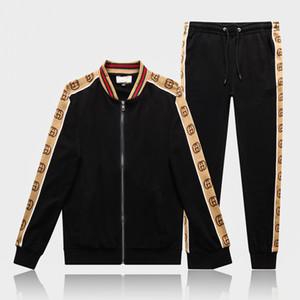 Gucci Hommes Lettre Survêtements Casual Imprimer molletonnés Hommes Costumes Jogger Fit Pollover capuche Sweats à capuche Pantalons longs Tenues